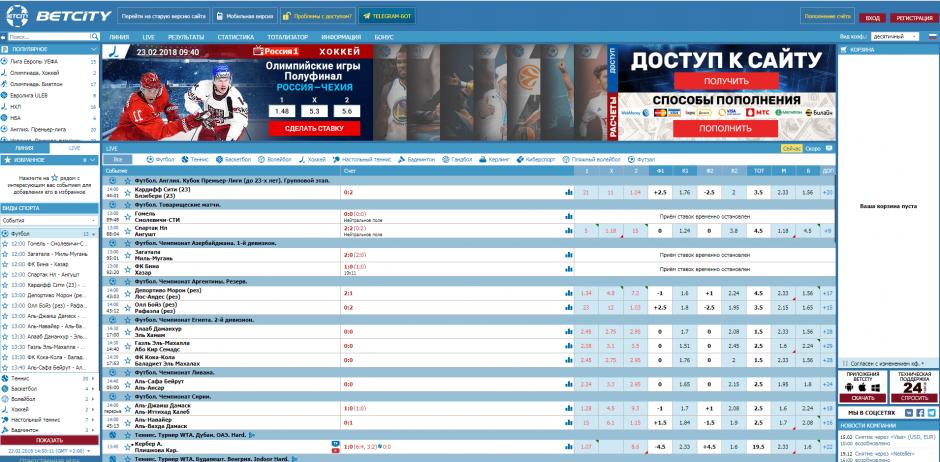 зеркало официального сайта бк Бетсити